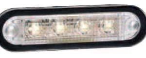 Markeringsljus 4 LED Vit E-märkt 1
