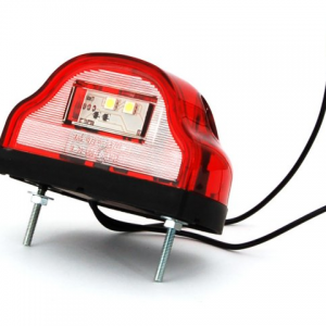 Nummerskyltsbelysning LED 10-30V Röd  1