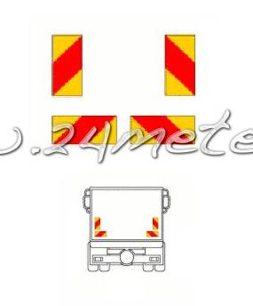 Reflexskylt-sats Bil (4-skylt) Klistermärke  1