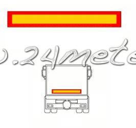 Reflexskylt 1132x197mm för släp  1