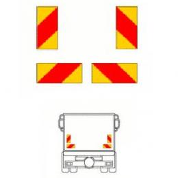 Reflexskylt-sats Bil (4-skylt) Klistermärke