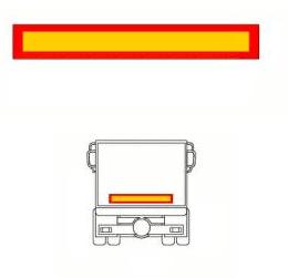 Reflexskylt 1132x197mm för släp