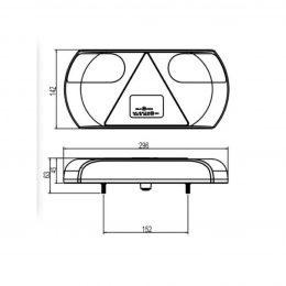 Släpvagnsbakljus LED 5-funkt