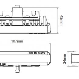 Blixtljus 6 LED Flat 2