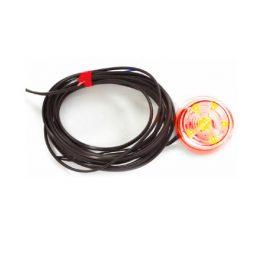 Transp LED för gummiarm 12/24V Röd