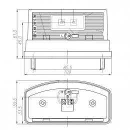 Nummerskyltsbelysning LED 10-30V Stor 2