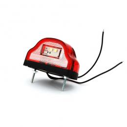 Nummerskyltsbelysning LED 10-30V Röd