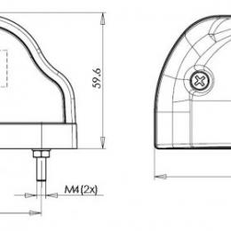 Nummerskyltsbelysning LED 10-30V Svart 2
