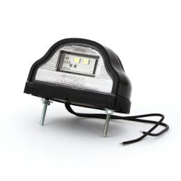 Nummerskyltsbelysning LED 10-30V Svart
