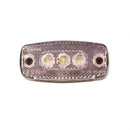 Sidomarkering 12-24V LED med reflex Vit