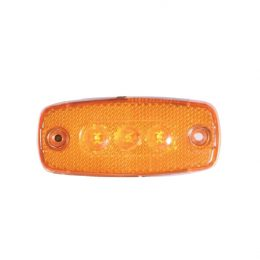 Sidomarkering 12-24V LED med reflex Orange