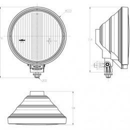 SIM Extraljus Lång LED-ring klar reflektor (2810) 2