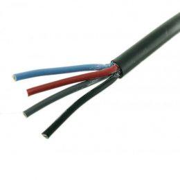 RKKB, 4x0.5mm², SVART, RING, 60V, PVC, 70°C 100m