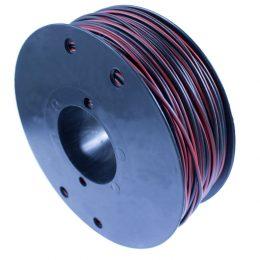 RKUB, 2x0.5mm², RÖD/SVART, BOBIN B3, 60V, PVC, 70°C 100m
