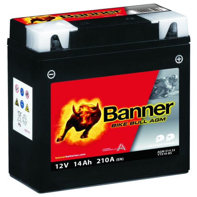 Banner Bike Bull  AGM YTX20L-BS