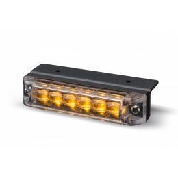 Blixtljus 6 LED m vinkelfäste ECE R65