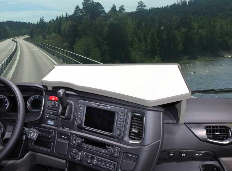 Mittbord Vitt passande Scania 09-16